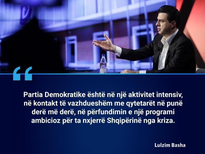Nga programi tek fushata elektorale, Basha: Derë më derë për të biseduar me qytetarët, në 25 prill sjellim ndryshimin