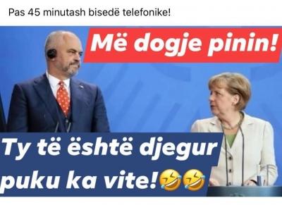 Humor në rrjetet sociale me Ramën pas përgjigjes së kancelares Merkel për negociatat