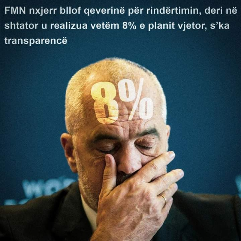 """""""Rindërtimi pas tërmetit, dështim katastrofik"""", PD: FMN solli zërin e qytetarëve dhe të opozitës, Rama realizoi 8% të planit"""