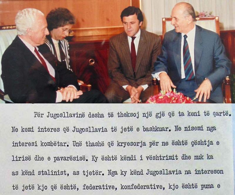 """1990/""""Jugosllavia të jetë e bashkuar, të mos ndahet"""""""