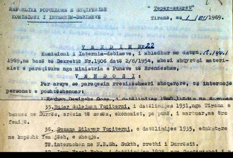 1969/Internimi i kosovarëve