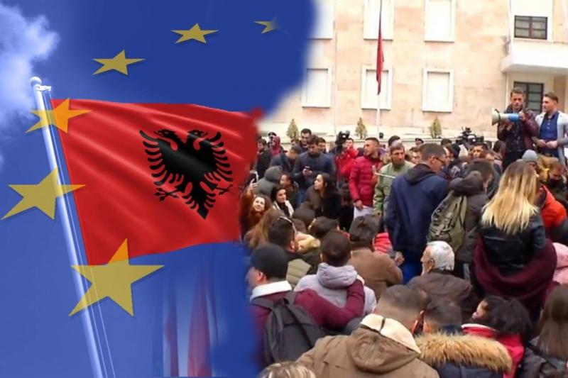 Bashkimi Europian mbështet protestën e studentëve