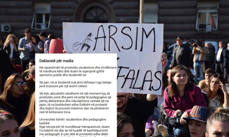 Studentët thirrje pedagogëve: Të bashkohen me ne në protestë