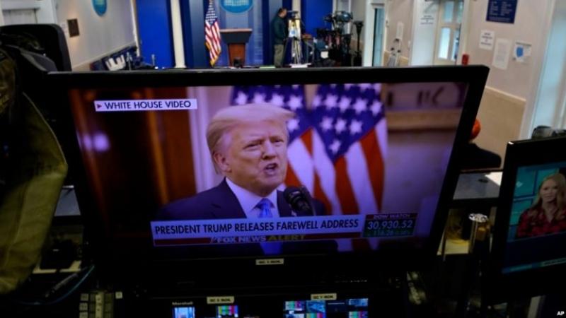 Presidenti Trump fjalim lamtumire: Largohem me zemër besnike, besim se do vijnë ditë më të mira për SHBA!