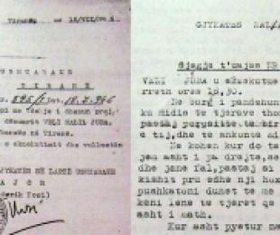 1946/I morën florinjtë dhe e vranë, fjalët para ekzekutimit