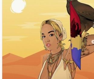 Piktura me motive kombëtare, Rita Ora nuk e fsheh krenarinë për origjinën