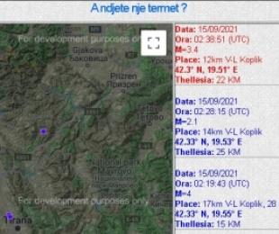 Lëkundet veriu i Shqipërisë! Tre goditje tërmeti në orët e para të mëngjesit