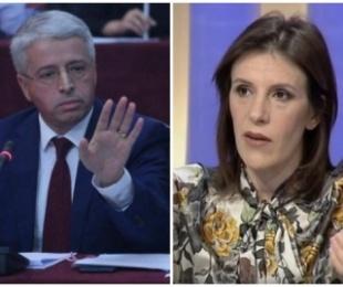 OFL dhe Saimir Tahiri 'fut' në sherr Lalën dhe Lleshajn/ Gazetarja: Të të vijë turp! Duhet të skuqesh para shqiptarëve për këtë që thua – Ministri: Më ke zënë ngushtë se…