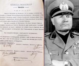 """1939/Duçja """"shpirtmadh"""", qytetar nderi i parë i Shqipërisë"""