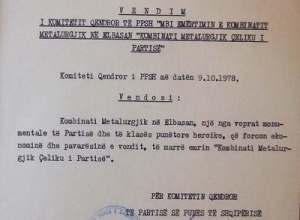"""1978/""""Çeliku i Partisë"""" si helm i popullit"""