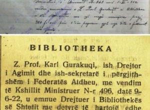 1922/Drejtori i Bibliotekës së Shtetit, si u emërua