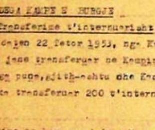 1953/Të internuarit e fundit në kampet tela me gjemba