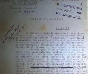1947/Dokumentet historike përdoreshin si letra ambalazhi